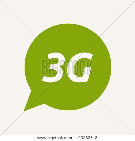 Isolated Speech Balloon With    The Text 3G