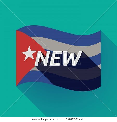 Long Shadow Cuba Flag With    The Text New