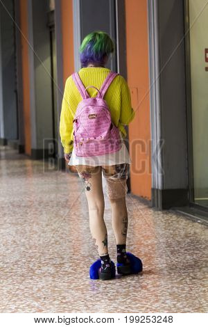 BOLOGNA, ITALY - JULY 22, 2017: Way of Independence, fashion today - Emilia Romagna