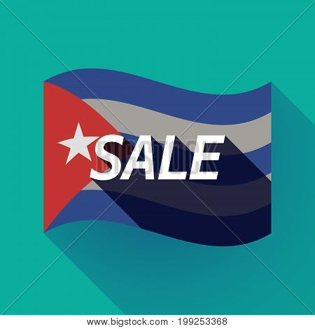 Long Shadow Cuba Flag With    The Text Sale