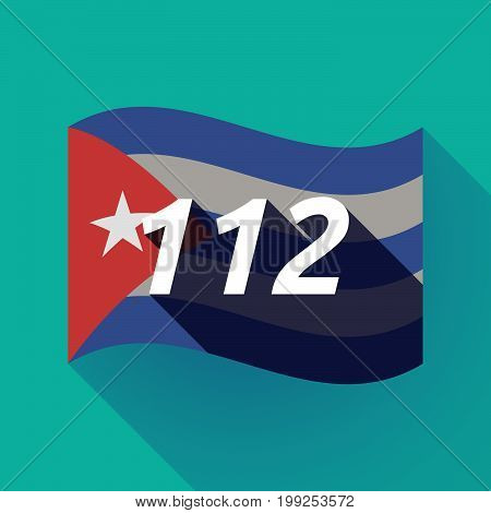 Long Shadow Cuba Flag With    The Text 112