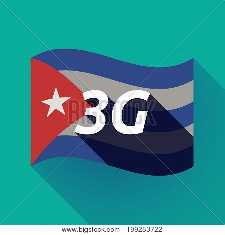 Long Shadow Cuba Flag With    The Text 3G
