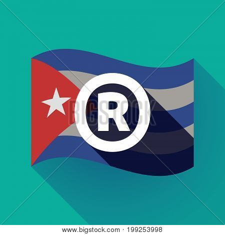 Long Shadow Cuba Flag With    The Registered Trademark Symbol