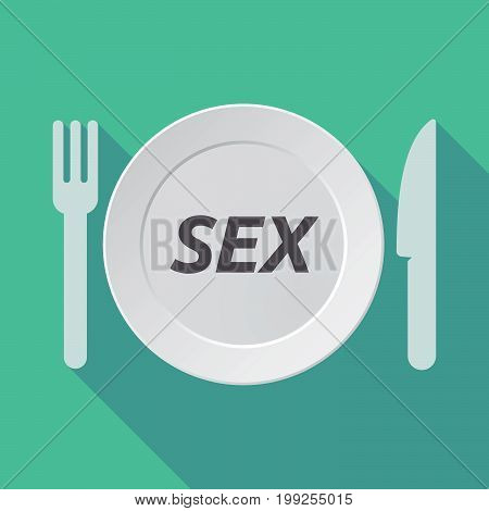 Long Shadow Tableware With    The Text Sex
