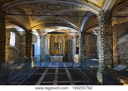 Chapel Of Bones, Evora, Portugal