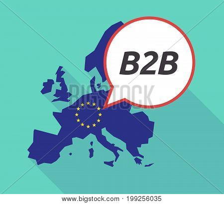 Long Shadow Eu Map With    The Text B2B