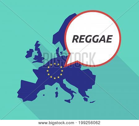 Long Shadow Eu Map With    The Text Reggae