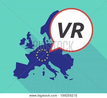 Long Shadow Eu Map With    The Virtual Reality Acronym Vr