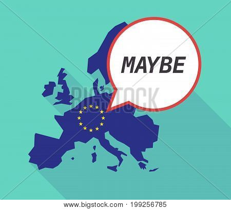 Long Shadow Eu Map With    The Text Maybe