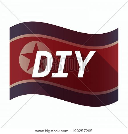 Isolated North Korea Flag With    The Text Diy