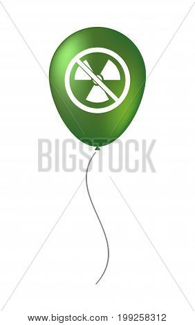Isolated Balloon With  A Radioactivity Sign  In A Not Allowed Signal