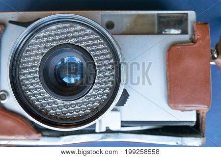Closeup Of Vintage Film Still Camera