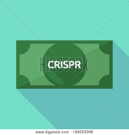 Long Shadow Bank Note With  The Clustered Regularly Interspaced Short Palindromic Repeats Acromym Cr