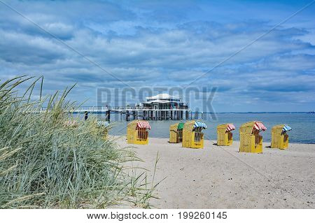 Timmendorfer Strand at baltic Sea in Schleswig-Holstein,Germany