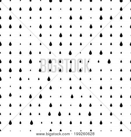 Geometric seamless halftone pattern with blob dots. Monochrome abstract vector texture.