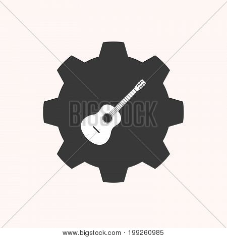 Isolated Gear With  A Six String Acoustic Guitar