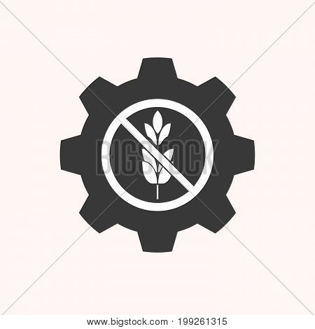 Isolated Gear With  A Gun  In A Not Allowed Signal
