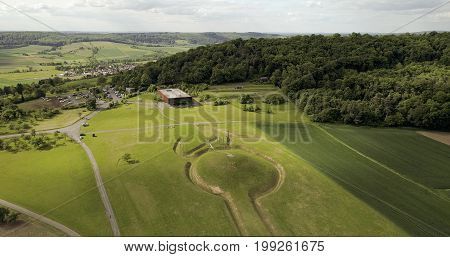celtic tomb hill and museum of the Celtic world in Glauberg, Wetterau, Germany