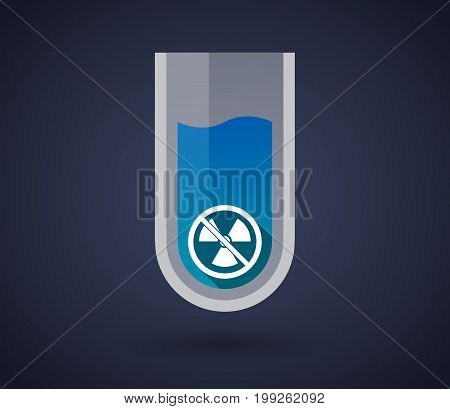 Chemical Test Tube With  A Radioactivity Sign  In A Not Allowed Signal