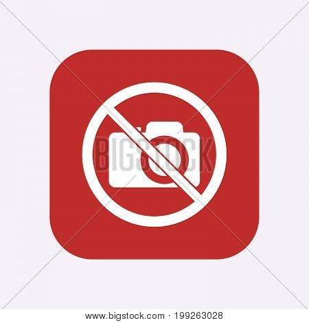 Isolated Button With  A Photo Camera  In A Not Allowed Signal