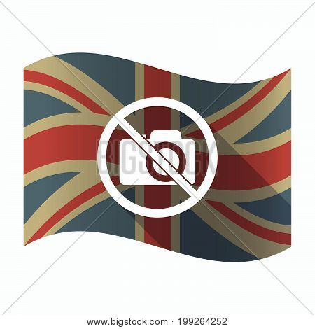 Isolated Uk Flag With  A Photo Camera  In A Not Allowed Signal