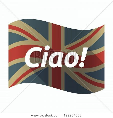 Isolated Uk Flag With  The Text Hello! In The Italian Language