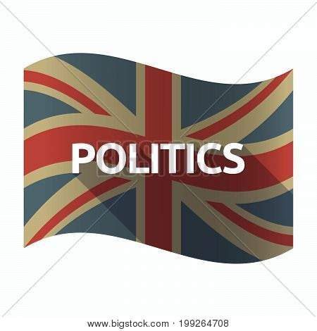 Isolated Uk Flag With  The Text Politics