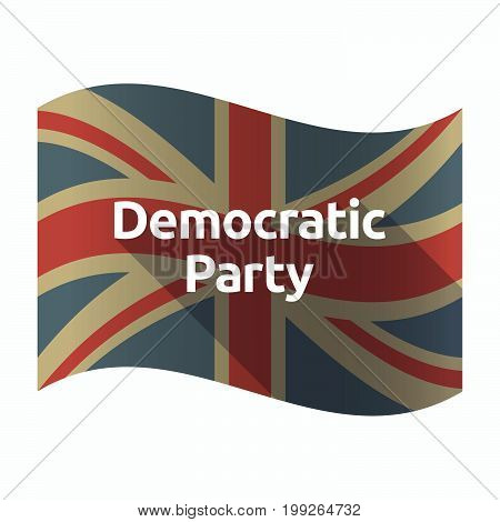 Isolated Uk Flag With  The Text Democratic  Party
