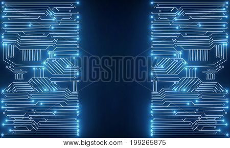 Blue Circuit Backdrop