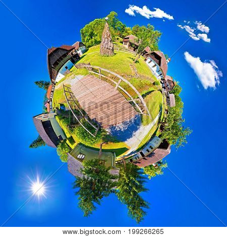 Village Of Kumrovec Countryside Planet Perspective Panorama