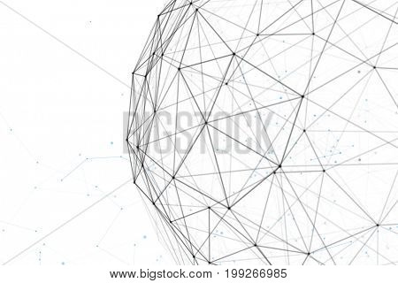 Fantasy abstract technology and engineering background with original organic motion. 3d rendering