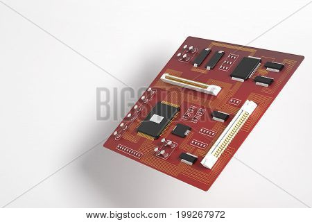 Red Motherboard Side