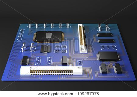 Blue Motherboard Front