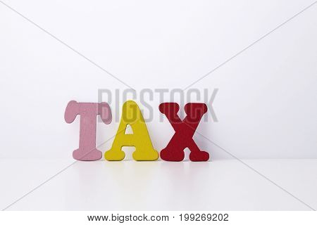 colorful wotd tax on the white background