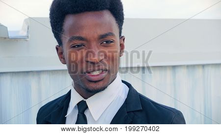 young african man suit and tie professional businessman handsome manager
