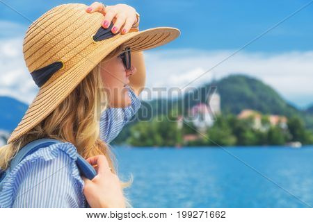 Enjoying the view in nature and lake.