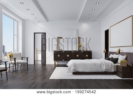 White Bedroom With A Poster, Closet