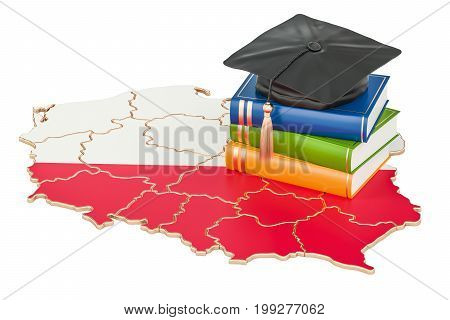 Education in Poland concept 3D rendering isolated on white background