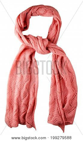 Scarf Isolated On White Background.scarf  Top View
