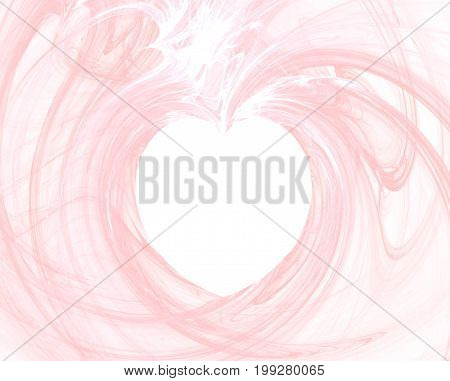 Heart background. Pinkish background with a shape of heart at the center
