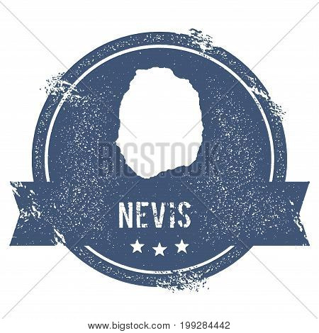 Nevis Logo Sign. Travel Rubber Stamp With The Name And Map Of Island, Vector Illustration. Can Be Us