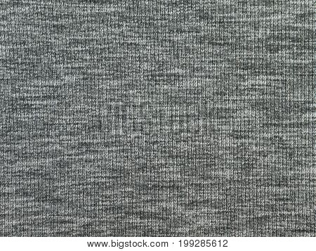 Heather gray polyester sportwear knitted fabric texture