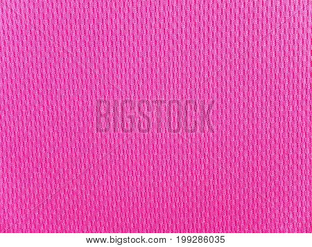 Bright pink polyester sportwear knitted fabric texture