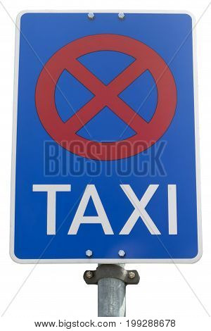 No Parking for Cap sign isolated on white background