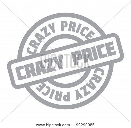 Crazy Price rubber stamp. Grunge design with dust scratches. Effects can be easily removed for a clean, crisp look. Color is easily changed.