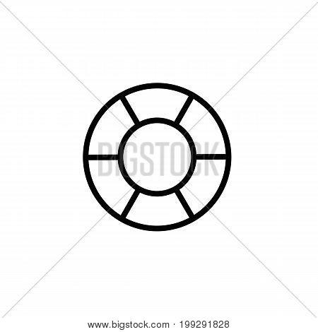 Lifebuoy Icon Thin Line Black