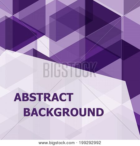 Abstract purple hexagon template background, stock vector