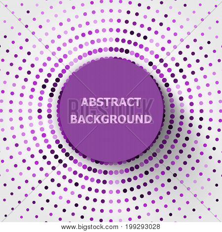 Abstract background with purple circles halftone, stock vector