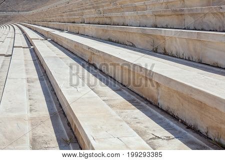 Stone Steps of the Amphitheater, Historic Landmark, Greece.