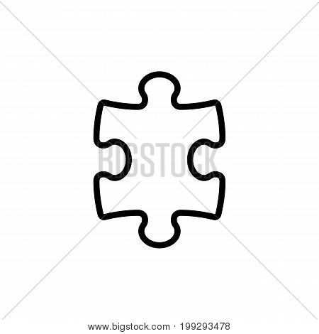 Line Puzzle Icon On White Background